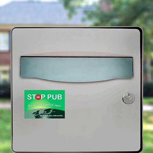 sticker stop pub classique