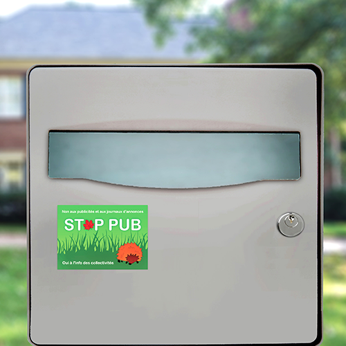 sticker stop pub foret