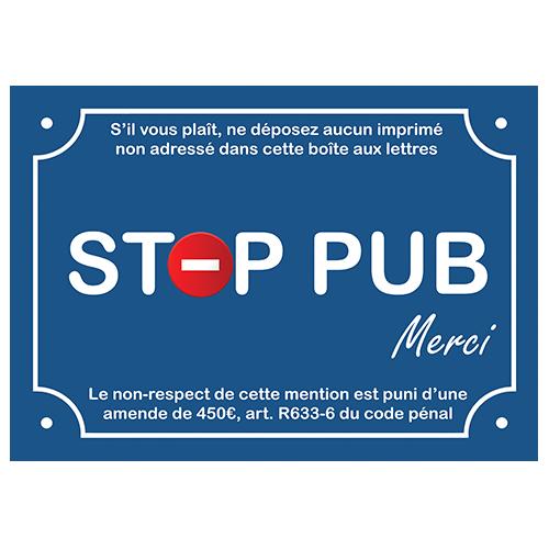 stop pub signaletique