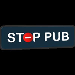 Mini STOP PUB bleu de prusse