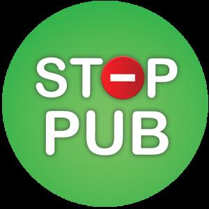 STOP PUB Rond vert