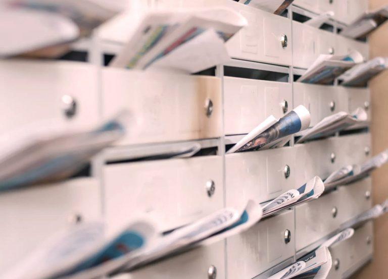 Boîtes aux lettres en résidence